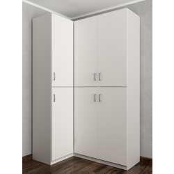 трехстворчатый угловой шкаф