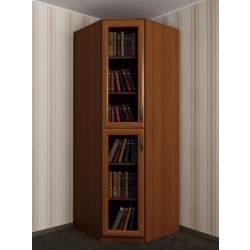 одностворчатый угловой шкаф под книги