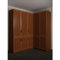 угловой шкаф для одежды в коридор