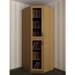 угловой шкаф в зал со стеклянными дверями